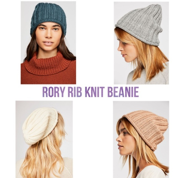 dc0f1706c29 FREE PEOPLE RORY RIB KNIT BEANIE  4 COLORS